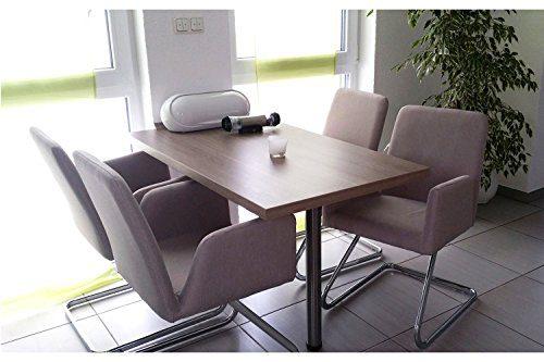 lounge stuhl freischwinger beatrice mit armlehnen k chenstuhl viele farben retro look. Black Bedroom Furniture Sets. Home Design Ideas
