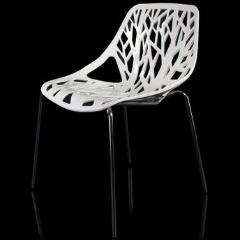 MOJO Stuhl Retro Design Kult Plastikstuhl Stapelbar S09