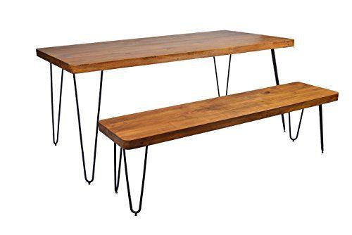 massivholz esstisch authentic easy living esszimmerst. Black Bedroom Furniture Sets. Home Design Ideas