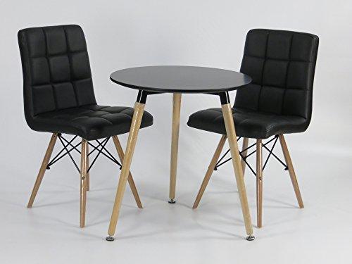 mdf inspiration retro esstisch rund 60 cm schwarz tisch. Black Bedroom Furniture Sets. Home Design Ideas