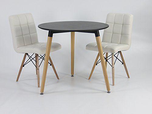 mdf inspiration retro esstisch rund 80 cm durchmesser schwarz tisch esszimmerst. Black Bedroom Furniture Sets. Home Design Ideas