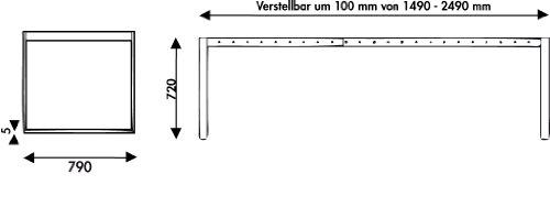 Naber essere tischgestell edelstahl verstellbar in 100 for Barhocker naber