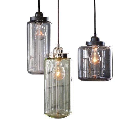 Ouku 60W E27 Glass Flush Mount Light mit 3 Lights