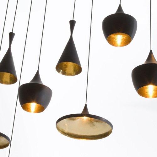 Ouku Anhänger, 3-Licht, Industrie-Schwarz-Eisen-Aluminium-Spinning Pendelleuchten for Esszimmer, Schlafzimmer