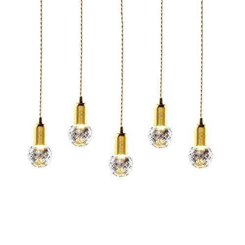 Ouku Clear Crystal Birne & Pendant/g9 Pendelleuchten Moonlight Vintage, Zeitgenössisch Korridor, Studierzimmer/Büro, Esszimmer, Schlafzimmer, Wohnzimmer Kette / Schnur verstellbar Transparent Metall Glas Inklusive Glühbirne