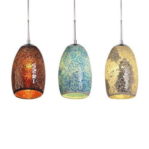 Ouku Deko-Anhänger, ein Licht, Tiffany Glasmalerei Harzverarbeitung rot