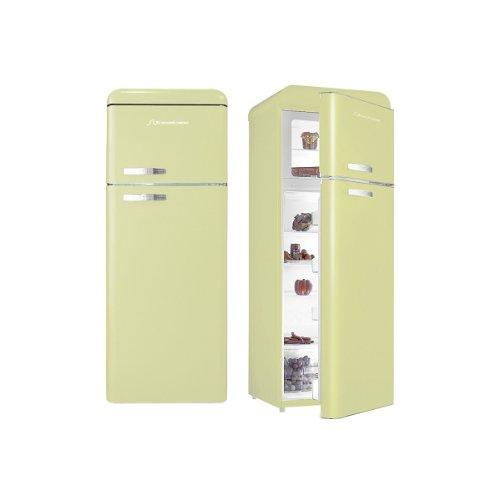 PKM SL208C DD Kühl-Gefrier-Kombination / A+ / 149.7 cm Höhe / 215.35 kWh/Jahr / 168 L Kühlteil / 40 L Gefrierteil / automatische Abtauung im Kühlteil / creme