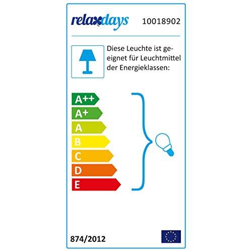 Relaxdays Pendelleuchte 3-flammig industrial Messing Holz-Optik schwenkbare Lampenschirme 10018902