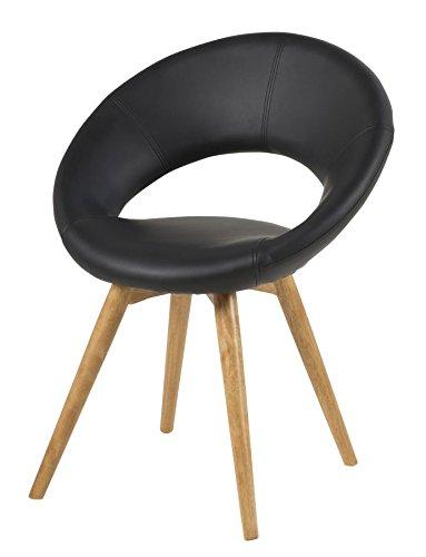 retro cocktailstuhl esszimmerstuhl plumpo schwarz. Black Bedroom Furniture Sets. Home Design Ideas