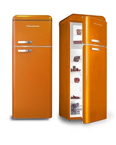 Retro Kühlschrank Orange Glanz A+ Kühl- Gefrierkombi Schaub Lorenz