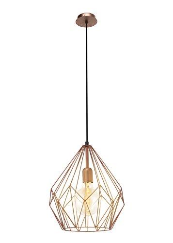 Retro Pendel Leuchte Hänge Lampe Esszimmer kupferfarben Beleuchtung Eglo 49258
