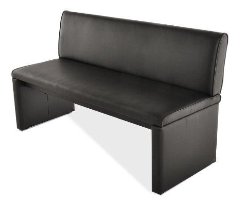 SAM® Einzelbank Family Smith 180 cm schwarz komplett bezogen angenehme Polsterung pflegeleicht teilzerlegt Auslieferung durch Spedition