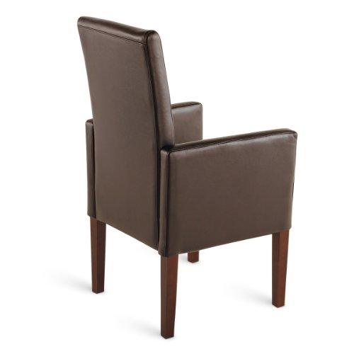 sam esszimmer armlehnstuhl stuhl ferrara in braun mit