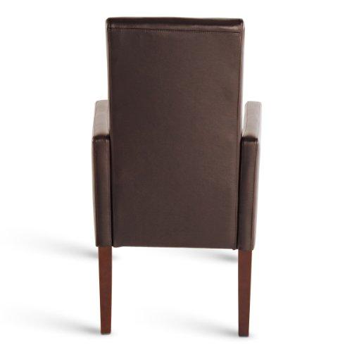 Sam esszimmer armlehnstuhl stuhl ferrara in braun mit for Esszimmer armlehnstuhl