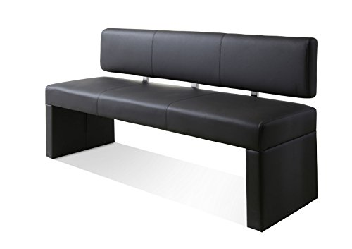 SAM® Esszimmer Einzel Sitzbank grau 180 cm SILAS komfortabel robust widerstandfähig schlicht elegant Lieferung erfolgt über Paketdienst teilzerlegt