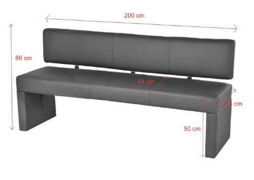 sam esszimmer einzel sitzbank muddy 200 cm sina komfortabel robust widerstandf hig schlicht. Black Bedroom Furniture Sets. Home Design Ideas