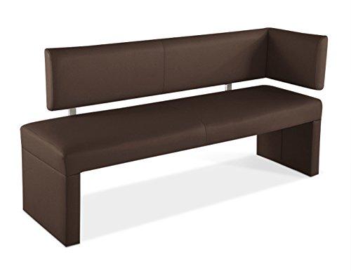 SAM® Ottomane Sitzbank Sabrina in braun 150 cm