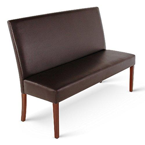 SAM® Sitzbank Florenz IV 200 cm in braun mit kolonialfarbigen Beinen aus Pinienholz angenehme Polsterung pflegeleicht teilzerlegt Auslieferung durch Spedition