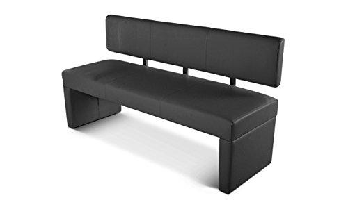 SAM® Sitzbank Sabatina in grau 164 cm komplett bezogen angenehme Polsterung Bank pflegeleicht teilzerlegt Auslieferung durch Paketdienst