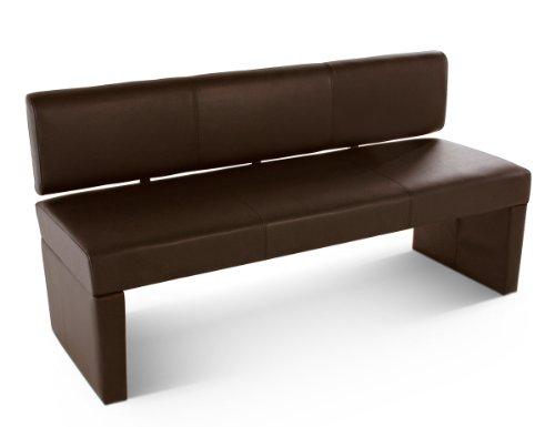 SAM® Sitzbank Sabrina 164 cm in braun komplett bezogen angenehme Polsterung pflegeleicht teilzerlegt Auslieferung durch Paketdienst