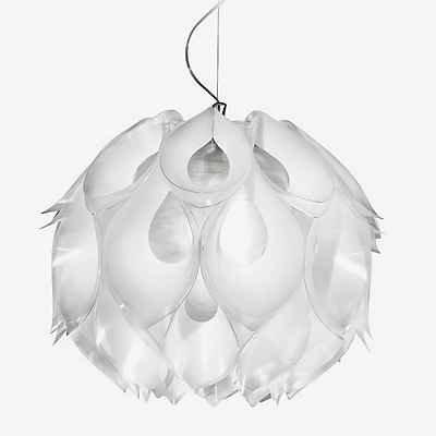 SLAMP Pendelleuchte Flora Medium, Weiß, Kunststoff, FLO85SOS0002W_000