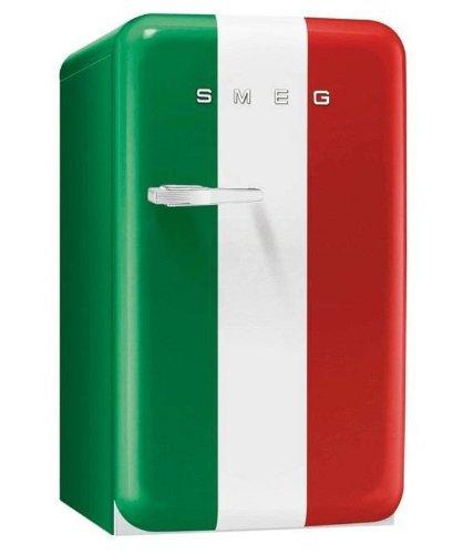 Smeg FAB10HRIT Stand Flaschenkühlschrank Italien Flagge Tür rechts Retro A+