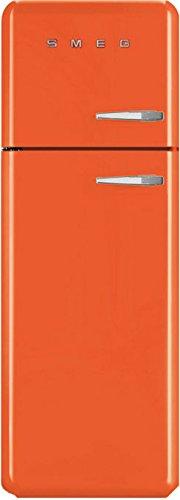 Smeg FAB30LO1 Standkühlschrank Kühl-Gefrier-Kombination Orange Retro A++ LED