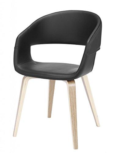 Stuhl NOVA Esszimmerstuhl mit Schalensitz in schwarz