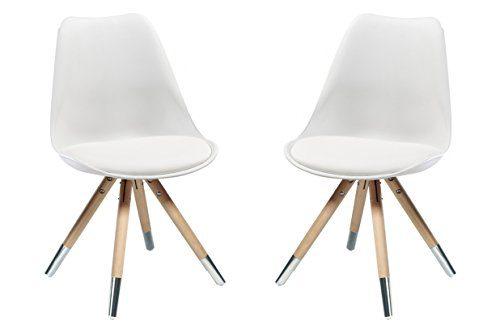 stuhl orso 2er set kunststoff weiss eiche natur mit. Black Bedroom Furniture Sets. Home Design Ideas