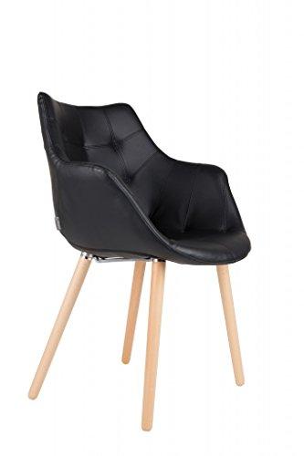 Stuhl Polsterstuhl TWELVE Black von Zuiver