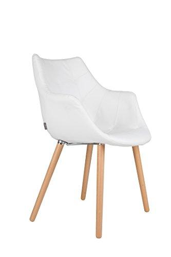 Stuhl Polsterstuhl TWELVE White von Zuiver