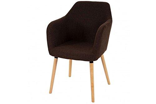 Stuhl braun Polstersessel Esszimmerstuhl Sessel Esszimmer retro Textil Stoff