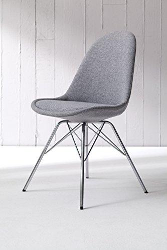 tenzo 3304 213 tequila 2 er set designer st hle dolly 82 x 48 x 54 cm grau chrom. Black Bedroom Furniture Sets. Home Design Ideas
