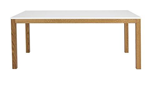 Tenzo 3580-001 Fresh Designer Esstisch, 75 x 180 x 90 cm, weiß / eiche