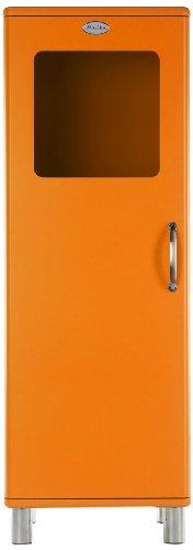 Tenzo 5111-017 Malibu - Designer Halbvitrine 143 x 50 x 41 cm, MDF lackiert, orange
