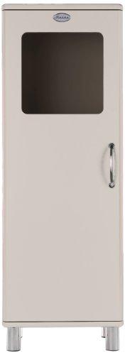 Tenzo 5111-083 Malibu, Designer Halbvitrine, 143 x 50 x 41 cm, MDF lackiert, warm grey