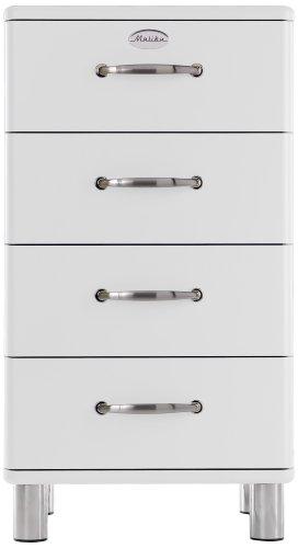 Tenzo 5114-005 Malibu - Designer Kommode 92 x 50 x 41 cm, MDF lackiert, weiß