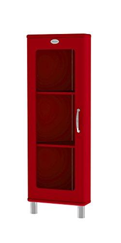 Tenzo 5203-028 Malibu Designer Eckvitrine, MDF lackiert, 143 x 50 x 39 cm, rot