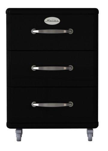 Tenzo 5273-033 Malibu - Designer Rollcontainer 60 x 41 x 46 cm, MDF lackiert, schwarz