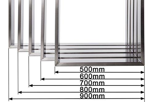 Tischgestell Edelstahl TR80 800mm breit Tischuntergestell Tischkufe Kufengestell