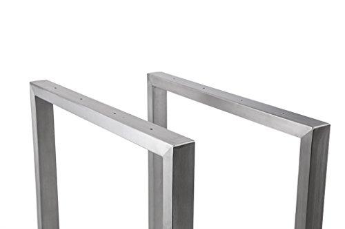 tischgestell edelstahl 600 breit trg600 tischuntergestell tischkufe kufengestell. Black Bedroom Furniture Sets. Home Design Ideas
