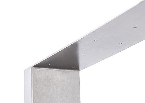 tischgestell edelstahl tu100 900mm breit tischuntergestell. Black Bedroom Furniture Sets. Home Design Ideas