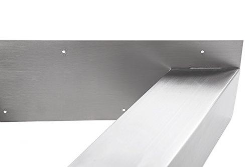 tischgestell edelstahl tux800 tischuntergestell tischkufe kufengestell 790mm breit tischkreuz. Black Bedroom Furniture Sets. Home Design Ideas