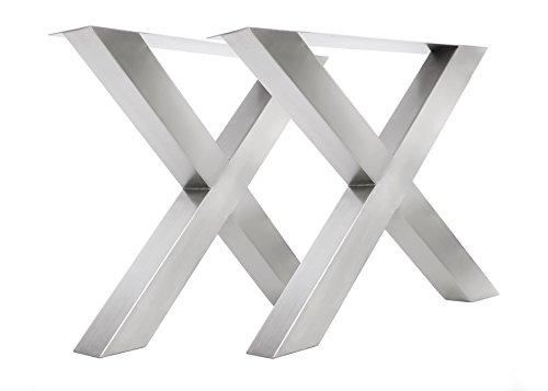 Tischgestell Edelstahl TUX800 Tischuntergestell Tischkufe Kufengestell 790mm breit Tischkreuz
