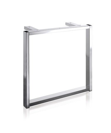 Tischgestell S9001 Edelstahl Optik f. Tisch B800/L1200-1800 mm