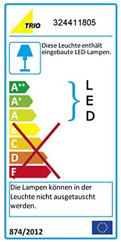 Trio Leuchten LED-JoJo-Pendelleuchte Cartani, nickel matt / aluminium 324411805