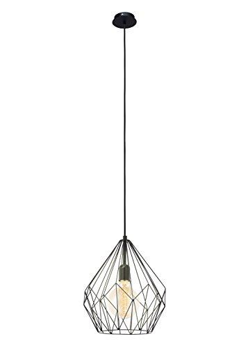 Vintage Pendel Leuchte Hänge Lampe schwarz Netz Beleuchtung Industrial Eglo 49257