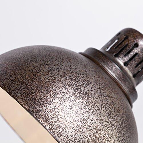 Vintage Pendelleuchte Cella im Orient Design, 1x E27 max. 60W, Ø 21 cm, H 180 cm, Metall, rostfarbend gesprenkelt