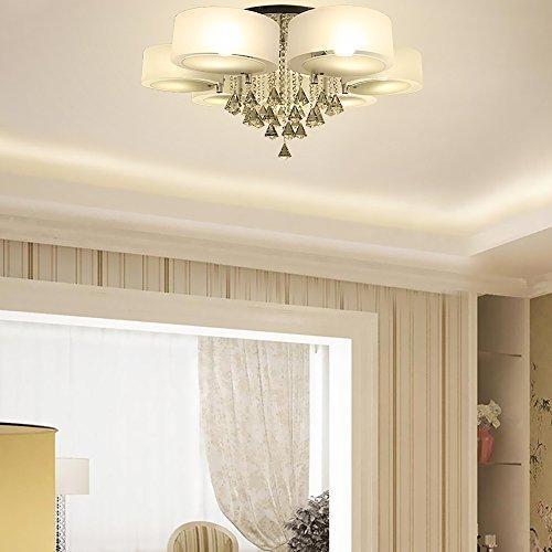 yorbay led kristall deckenleuchte deckenlampe designer wohnzimmer lampe e27 7 flammig mit rgb. Black Bedroom Furniture Sets. Home Design Ideas