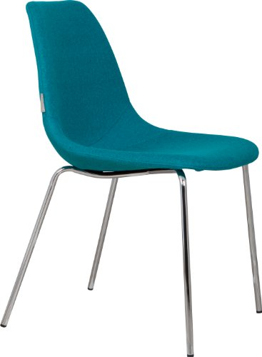 Zuiver 1100214 Fiften Up Stühle, 57 x 46 x 83cm, Chrom/Blau, 2Stück